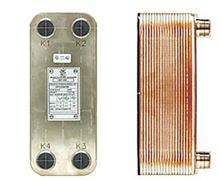 AIC Brazed Plate Heat Exchanger - 50 Plate - 3/4 Inch NPT Connection - LA14-50. Hydronic Heat applications