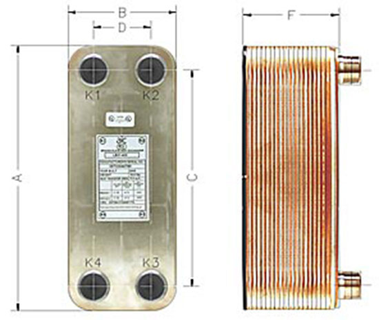 OKO Brazed Plate Heat Exchanger - 10 Plate - OKO 5x12-10 - Flat Plate Heat Exchangers