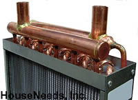 Water to Air Heat Exchanger - 18 Inch x 18 Inch - HTL1818 - C1818 Top View