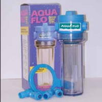 Aqua Flo Legacy Water Filter Housing - with Clear Sump and Mounting Bracket - includes Spanner Wrench and Plastic Adapter Fittings - WCT34 - 26000