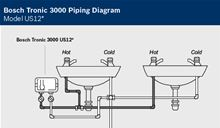 Bosch Tronic 3000 Point of Use Electric Water Heater - US9 Piping Diagram