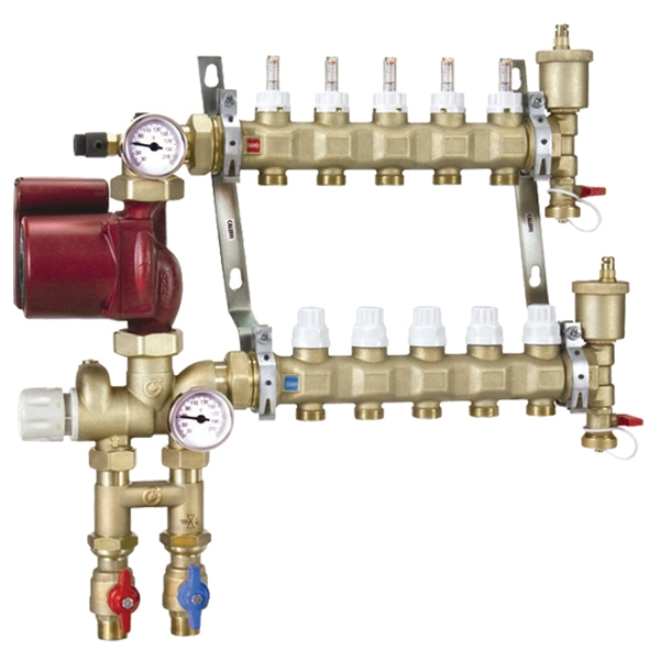 Caleffi 1725C1A 12 Mixing Station PEX Manifold 3 8 Inch