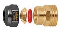 Caleffi 22mm compression to 1 inch male union for 3/4 inch SolarFlex - 254462