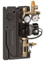 Caleffi Dual-line solar pump station with return and flow Three-speed - 255050A - Pictured is a single line pump