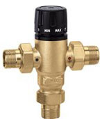 Caleffi Heating Mixing Valves 521609A - 1 Inch - 3-Way Valve. Caleffi Thermostatic Mixing Valve. Hydronic Heating Systems.