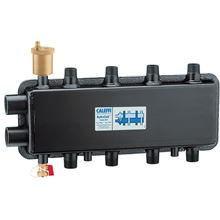 Caleffi 559922A HydroLink Hydraulic Separator Manifold - 2 Zones on Top and 2 Zones on the Ends