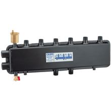 Caleffi 559931A HydroLink Hydraulic Separator Manifold - 2 Zones on Top and 2 Zones on the Ends (3 +1)