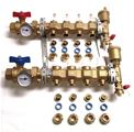 Caleffi 3/4 inch PEX 5 Port Manifold Set with Sight Flow - Pre-Assembled - Includes 3/4 inch Pex Adapters - 6686E5S1A