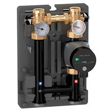 Caleffi HydroMixer Injection Pump Mixing Unit with Insulation Dual Line with UPS15-58 Pump on Right - 165600A