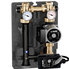 Caleffi 167602A HydroMixer Pump with Thermostatic Motorized Temperature Mixing Valve and Insulation Dual Line and Alpha 25-55U Pump on Right Side - 167602A