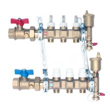 Caleffi 6686F5S1A PEX Tubing Manifold 6 Ports for Radiant Heat. Manifolds do not include adapters - Body Only.