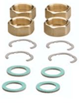 Caleffi Connection Kit for 1/2 inch SolarFlex with 4 nuts, 4 segment rings and 4 flat sealing washers - NA12102