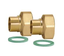Caleffi Solar Fittings Kit - 3/4 inch union connection set to 1 inch M Thread - NA12259