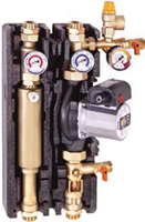 Caleffi High Head/Flow - Dual-line Solar Pump Station with return and flow - NA255160 - Special Order Only