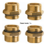 Caleffi Dual-line 1/2 inch SolarFlex direct fitting kit includes 4-3/4 inch male thread adaptors (NA12152) - NA26740