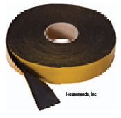 Caleffi Solarflex Insulating EPDM Foam Tape UV Resistant 25 foot Roll X 2 inch Wide X 1/8 inch Thick - NA35001