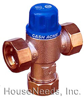 Heatguard Thermostatic Mixing Valve for Domestic Hot Water - HG110D with 3/4 inch Copper Compression Fittings - 24124-24049