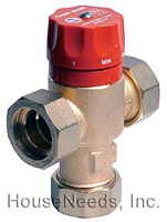 Heatguard Thermostatic Mixing Valve for Heating - HG110HX with 3/4 inch Threaded Male Fittings and Check Valve - 24174-24058