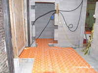 Creatherm Radiant PEX Floor Panels - 18 Panel Bundle - 24 inch x 48 inch x 1.8 inch - 144 Square Feet - T45 installed over a basement cement floor