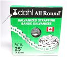 Dahl Galvanized Strap 24 gauge 3/4 inch by 25 feet - 9047