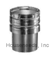 Duravent Galvanized 6 inch B Vent Draft Hood Connector 6GVC
