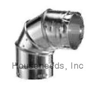 Duravent Galvanized 5 inch B Vent 90 Degree Adjustable Elbow Pipe 5GVL90