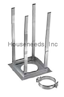 Duravent Galvanized 6 inch B Vent Square Firestop Support 6GVRS