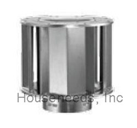 Duravent Galvanized 6 inch B Vent High-Wind Cap 6GVVTH