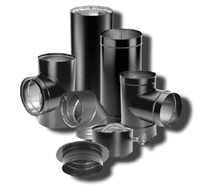 Duravent 6 Inch Dvl Durablack Double Wall Black Tee With Clean Out Cap 8655 6dvl T