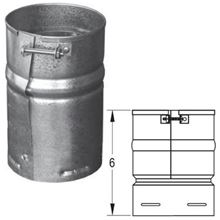 Duravent Galvanized 6 Inch B Vent - Female Adapter - 6GVAF 0499