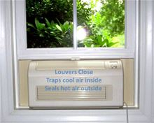 Eco-Breeze Fresh Air Cooling System - Window Unit - Eco-Breeze installed view from inside when closed off