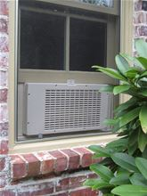 Eco-Breeze Fresh Air Cooling System - Window Unit - Eco-Breeze installed view from outside