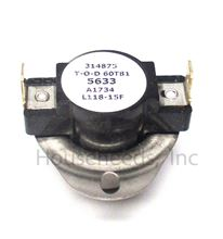 Electro Industries 118 Degrees Auto High Limit Reset Part Number 5633