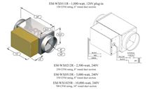 Electro Industries EM-WX10-240-1-10. Make-Up Air Heat Exchanger and Boost Heater - 10 Inch Round Duct Insert - EM-WX10-240-1-10 Specs