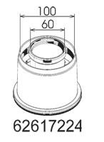 Mestek Embassy Ambassador Onex Boiler -  Vertical Coaxial Adaptor - 62617224