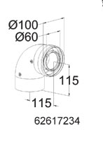 Embassy Ambassador Onex Boiler - 90 Degree Concentric Elbow - 62617234