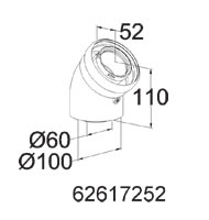 Embassy Ambassador Onex Boiler - Concentric Elbow 45 degree - 62617252