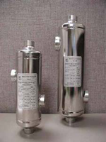 AIC Shell and Tube Heat Exchanger 250,000 btu - 1 inch NPT Tube connection - 1-1/2 inch NPT Shell connection - B-250