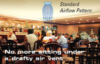 Standard Grill Airflow Pattern to compare to Fantech CG 4 Grill Collar