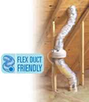 Fantech Insulated Flex Duct 25 feet 4 inch diameter - FIDT 6 Installed in an Attic Example