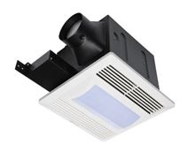 Fantech Bath Exhaust Fan with 26 Watt CFL Light - FQ Quiet Series - 80 CFM - Bulb Included - FQ 80FL