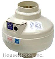 Fantech FR Series Inline Centrifugal 5 inch  Duct Fan Molded Housing 148 CFM - FR 125