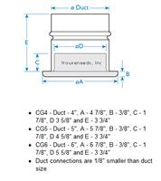 Fantech 4 inch Grill/Collar - CG 4 Dimension Diagram