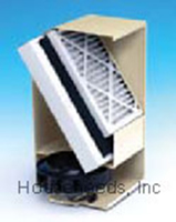 Fantech Hepa Whole House Filter System Duct Mounted - DM 3000 Cut-a-way view with filter shown