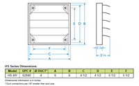 Fantech Louvered Shutter Plastic w/Tailpiece 4 inch Round Duct HS 4W Dimensions Diagram