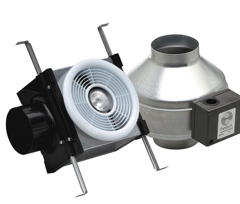 Fantech Bath Fan PB 110L. Fantech Inline Bath Exhaust Fan