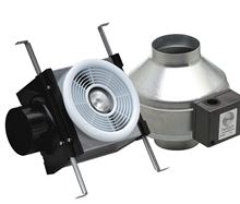 Fantech Bath Exhaust Inline Fan Kit - PB110L with dimmable LED Light