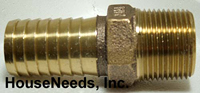 Brass Fitting 1 inch insert by 1 inch MIP - I13-003