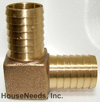 Brass Fitting Elbow 1 inch insert by 1 inch insert - I13-025