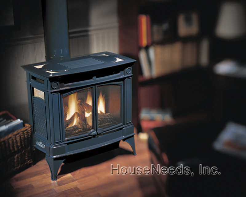 Hampton Gas Stove H35 Hampton H35 Charcoal Gray Cast Iron
